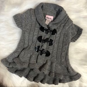Little Lass Cable Knit Short Sleeved Cardigan